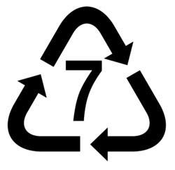 Recyclage code plastique 7